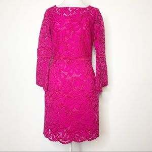 NWT Tara Jarmon bell sleeve lace dress